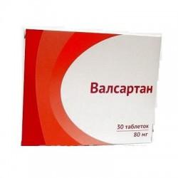 Валсартан, табл. п/о пленочной 80 мг №30