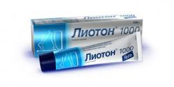 Лиотон 1000, гель д/наружн. прим. 1 тыс.ЕД/г 30 г №1